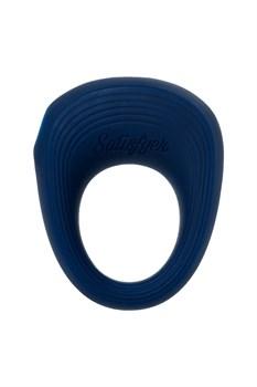 Синее эрекционное кольцо на пенис Satisfyer Power Ring