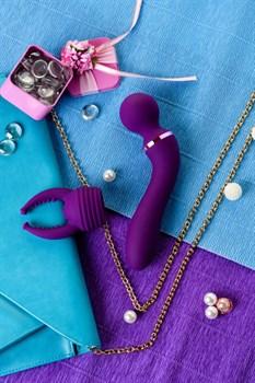 Фиолетовый вибромассажер Eromantica Uma - 20 см.