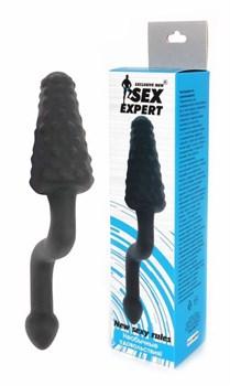 Чёрный анальный стимулятор с рычагом Sex Expert