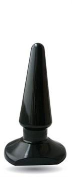 Чёрная анальная пробка ANAL STIMULATOR - 7,7 см.