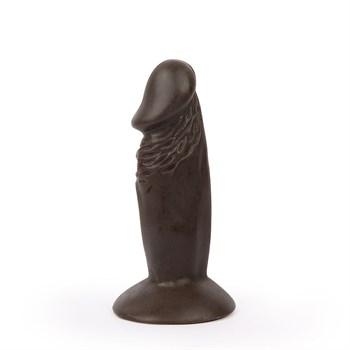 Реалистичный коричневый анальный фаллоимитатор Erowoman на присоске