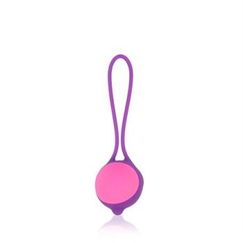 Фиолетово-розовый вагинальный шарик Cosmo