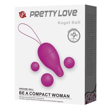 Лиловое вагинальное яйцо с утяжеляющими шариками Kegel Ball
