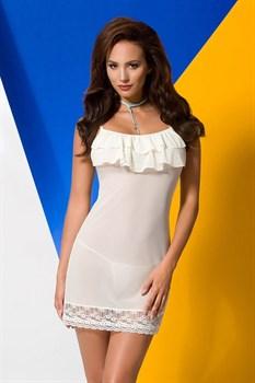 Полупрозрачная сорочка с оборками на лифе Ariel