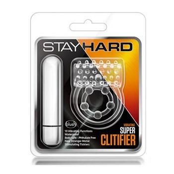 Прозрачное эрекционное виброкольцо Vibrating Super Clitifier