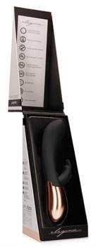 Черный вибратор Opulent с подогревом - 20,3 см.
