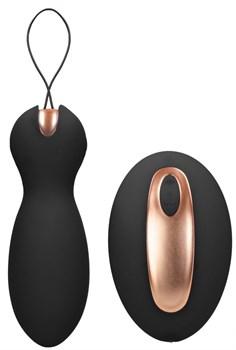 Черные вагинальные шарики Purity с пультом ДУ
