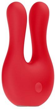 Красный клиторальный стимулятор Exceptional - 10,4 см.