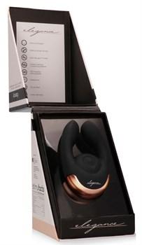 Черный клиторальный стимулятор Fancy - 9,8 см.