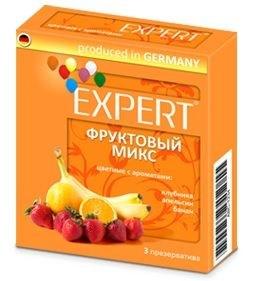 Цветные презервативы Expert  Фруктовый микс  - 3 шт.