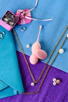 Нежно-розовые вагинальные шарики ZEFYR с пультом ДУ