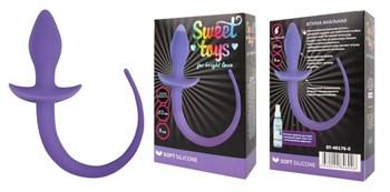 Фиолетовая анальная втулка с хвостиком