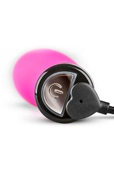 Розовый силиконовый вибратор Lil Rabbit с ушками - 13 см.