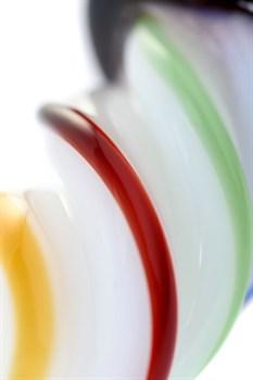 Коническая стеклянная анальная втулка Sexus Glass - 16 см.