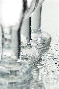 Набор из трех стеклянных анальных пробок с круглым ограничителем Sexus Glass