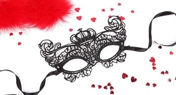 Черная ажурная текстильная маска Элизабет