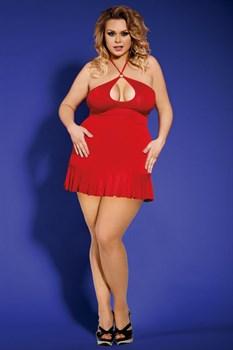 Сексуальное платье с воротом-петлей