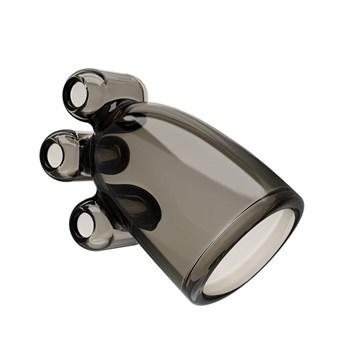 Дымчатая насадка-мастурбатор с вибрацией Vibrating Crystal Cap II
