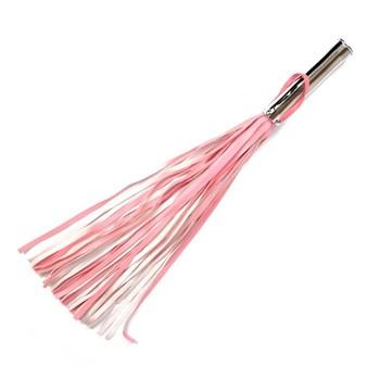 Розовая плетка Notabu с розовым кристаллом на рукояти - 58 см.