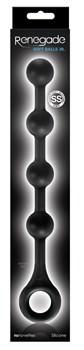 Черная цепочка анальных шариков  Soft Balls Jr. - 29 см.