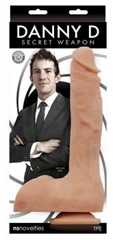 Телесный фаллоимитатор на присоске Secret Weapon - 28 см.