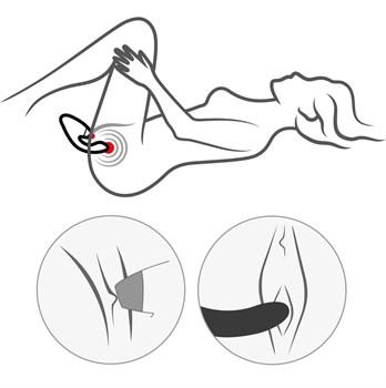 Бордовый стимулятор Womanizer DUO с вагинальным отростком