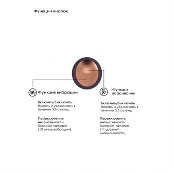 Фиолетовый клиторальный вакуум-волновой массажер Irresistible Invincible