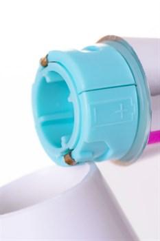 Розовый силиконовый вибратор с клиторальным стимулятором - 20,4 см.
