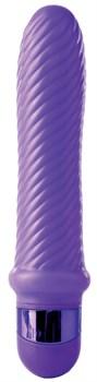 Фиолетовый ребристый вибромассажер Grape Swirl Vibe - 15,8 см.