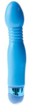 Голубой гибкий вибромассажер Powder Puff Massager - 17,1 см.