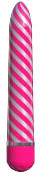 Розовый вибратор Sweet Swirl Vibrator - 21,3 см.