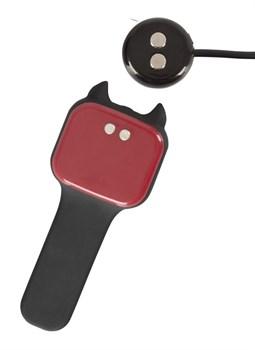 Черный вибромассажер простаты с нагревом и ротацией Prostate Plug - 14,5 см.