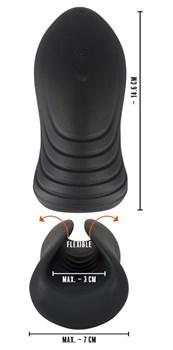 Черный вибромастурбатор Ultra Soft