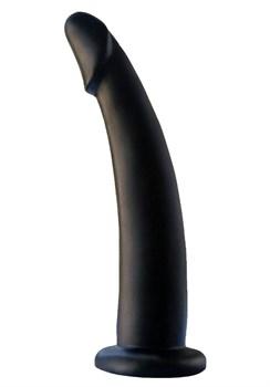 Черный анальный фаллоимитатор с зауженным кончиком - 13 см.