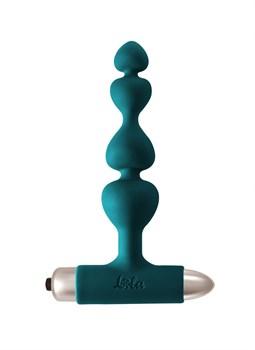 Зеленая анальная вибропробка-елочка Edition Excellence - 15 см.