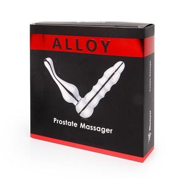 Серебристый металлический вибромассажер простаты Alloy