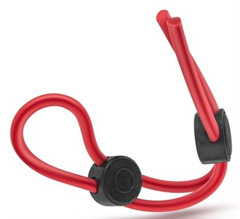 Красное силиконовое лассо на пенис с двумя утяжками Silicone Double Loop Cock Ring