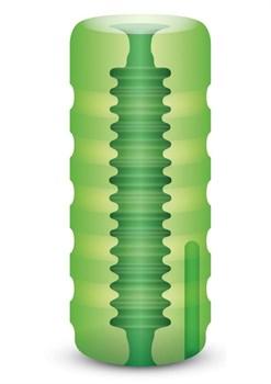 Зеленый мастурбатор с вибрацией Zolo Original Squeezable Vibrating Stroker
