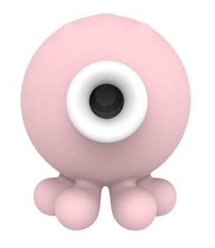 Нежно-розовый вакуумный клиторальный стимулятор-осьминог OCTOPI