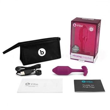 Розовая пробка для ношения с вибрацией Snug Plug 2 - 11,4 см.