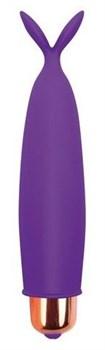 Фиолетовый клиторальный вибростимулятор с усиками