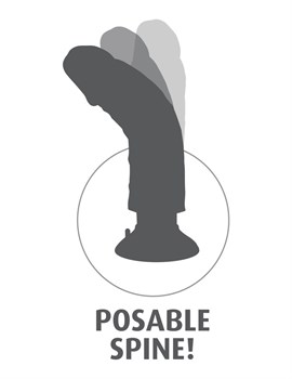Вибромассажер-мулат 6  Vibrating Cock - 17,8 см.