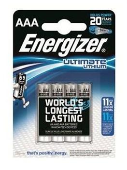 Батарейки Energizer Ultimate Lithium L92 AAA B - 4 шт.