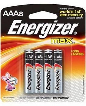 Батарейки Energizer MAX AAA/LR03 1,5V - 8 шт.
