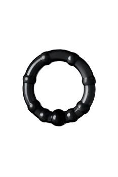 Набор из 3 черных силиконовых эрекционных колец разного размера