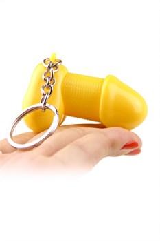 Желтый брелок для ключей в форме пениса