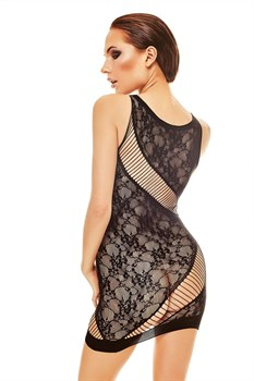 Эффектное короткое платье-сетка Adios