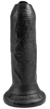 Черный необрезанный фаллоимитатор на присоске 6  Uncut Cock - 16,5 см.
