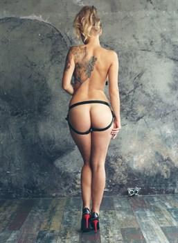 Черные трусики для страпона Deeper