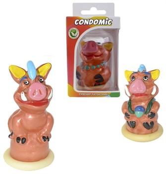 Сувенирный латексный презерватив  Свинья
